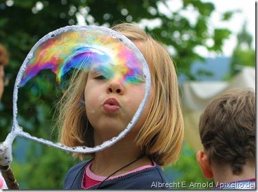 Seifenblasen machen Spaß